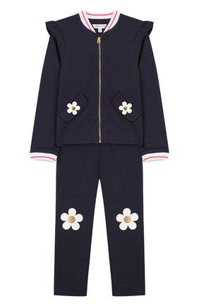 Детский комплект из кардигана и брюк MARC JACOBS (THE) темно-синего цвета, арт. W08063/2A-3A | Фото 1