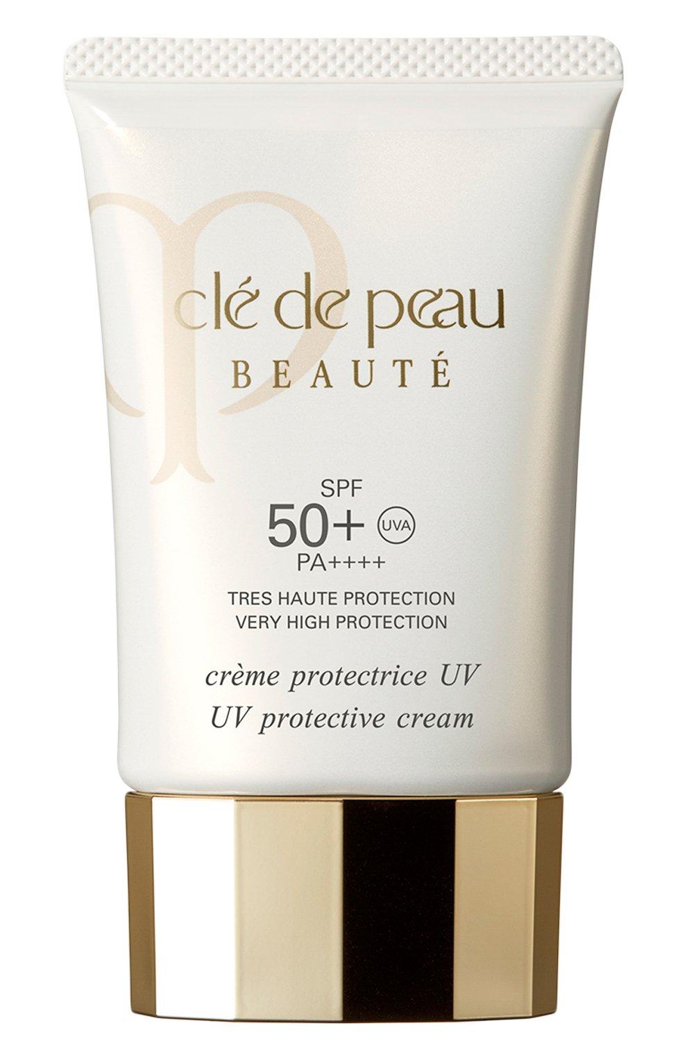 Дневной защитный крем для лица spf 50+ CLÉ DE PEAU BEAUTÉ бесцветного цвета, арт. 13303CP   Фото 1