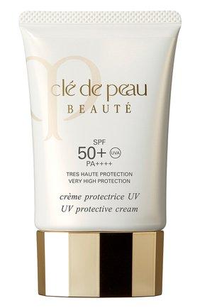 Женское дневной защитный крем для лица spf 50+ CLÉ DE PEAU BEAUTÉ бесцветного цвета, арт. 13303CP | Фото 1