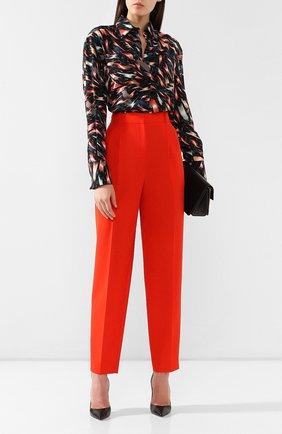 Шерстяные брюки Givenchy красные | Фото №2