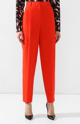 Шерстяные брюки Givenchy красные | Фото №3
