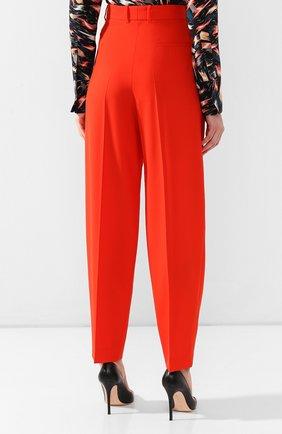 Шерстяные брюки Givenchy красные | Фото №4
