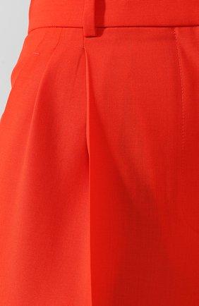 Шерстяные брюки Givenchy красные | Фото №5