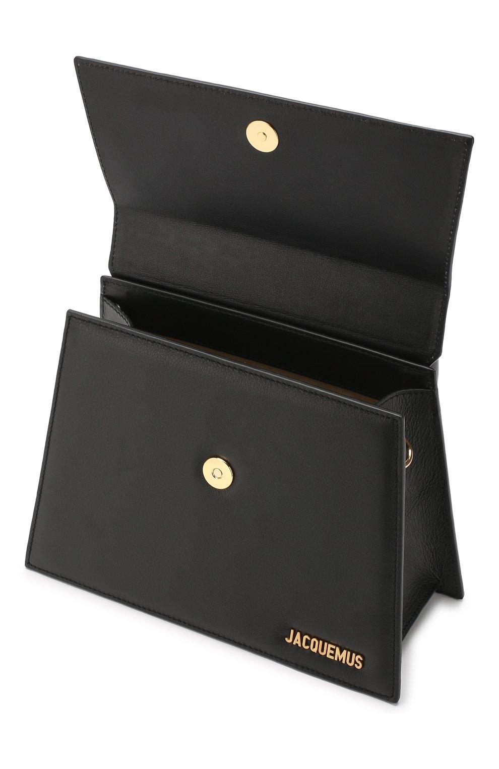Сумка Le Chiquito grand Jacquemus черная цвета | Фото №4
