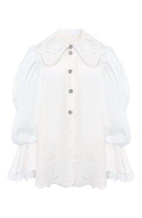 Блузка из смеси хлопка и льна | Фото №1