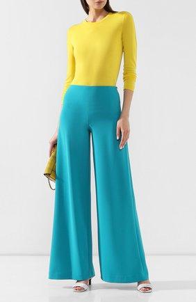 Женские брюки RALPH LAUREN бирюзового цвета, арт. 290755910 | Фото 2