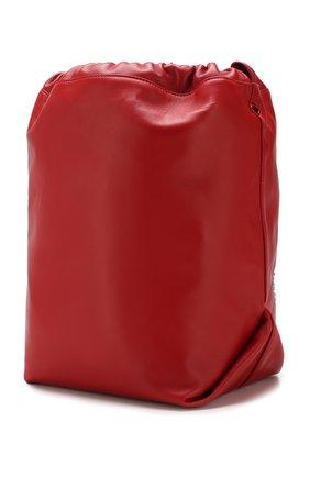 Сумка Teddy Saint Laurent красная цвета | Фото №3