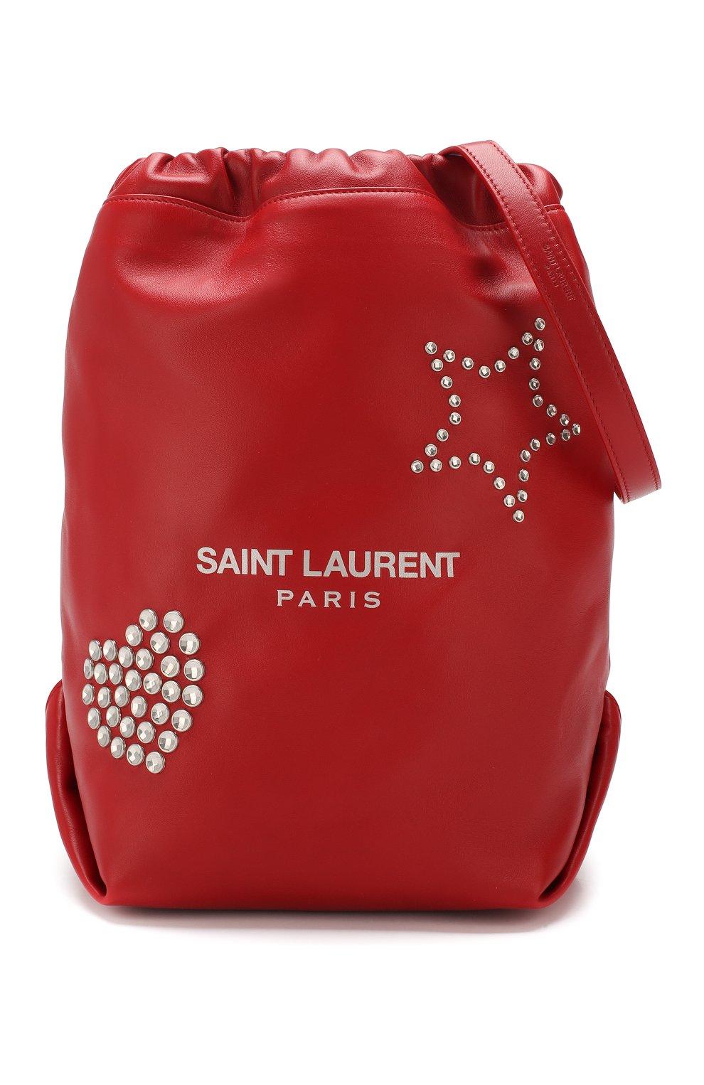 Сумка Teddy Saint Laurent красная цвета | Фото №5
