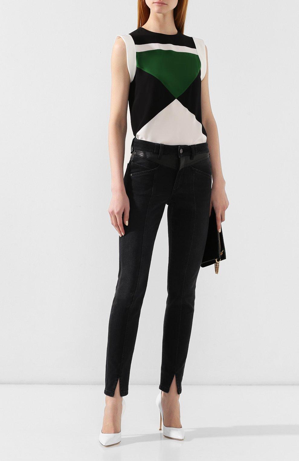 Шелковая блузка Givenchy зеленая | Фото №2