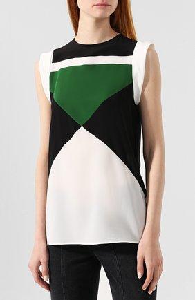 Шелковая блузка Givenchy зеленая | Фото №3