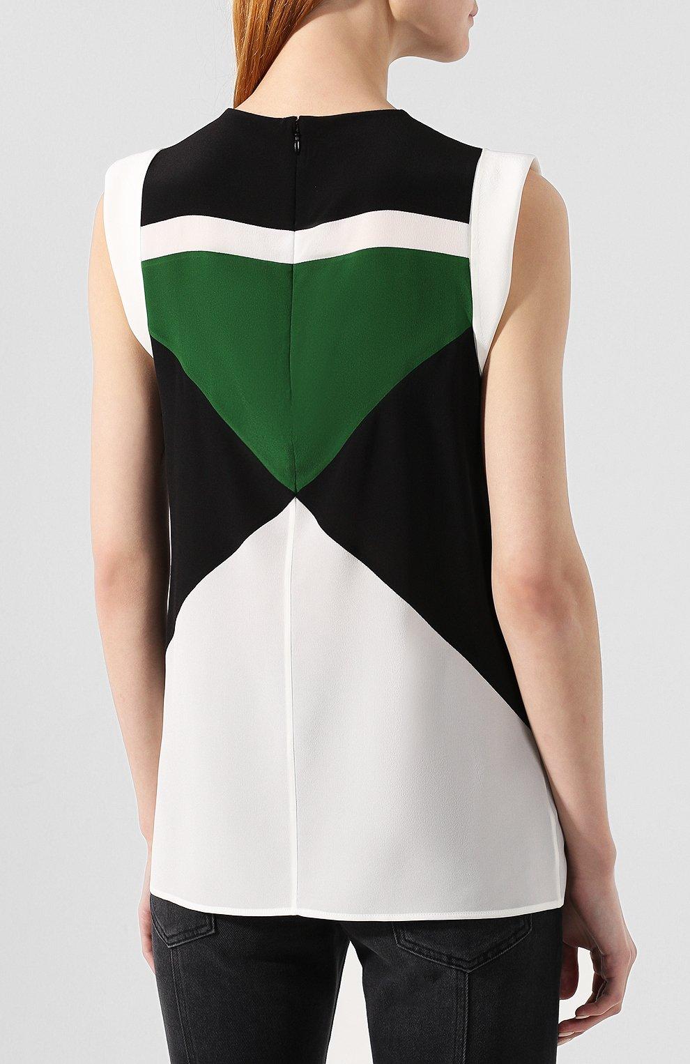 Шелковая блузка Givenchy зеленая | Фото №4