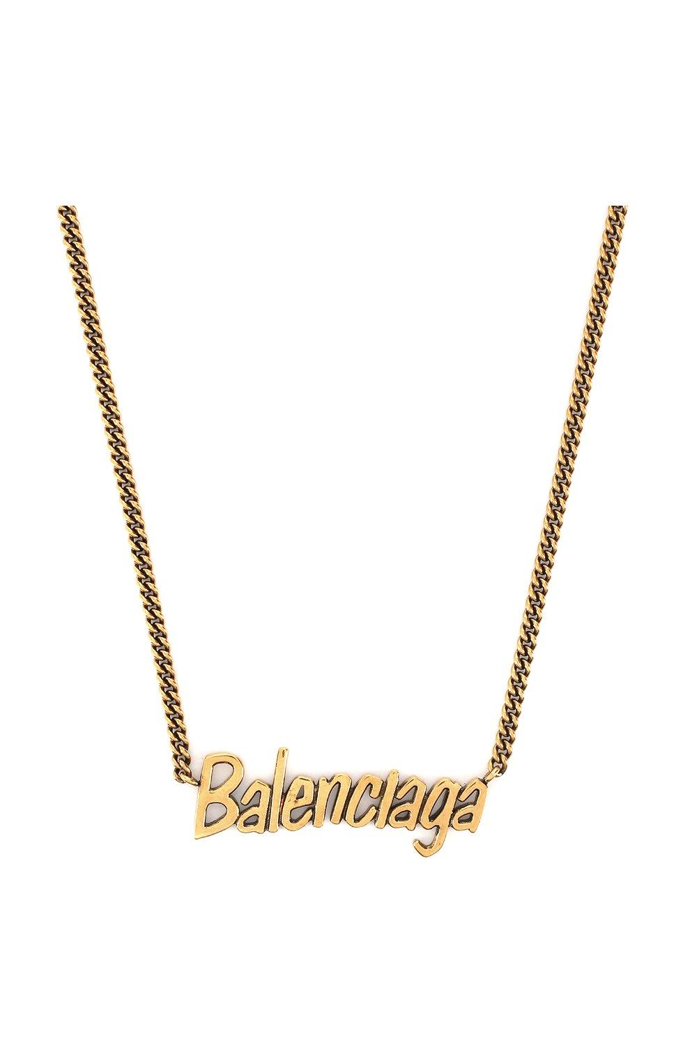 Колье Balenciaga золотое | Фото №2