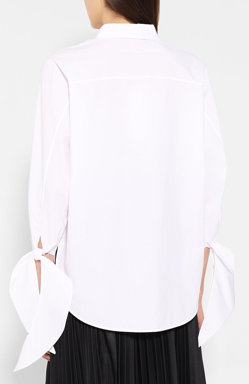 c85587f72b2 Женская белая хлопковая рубашка ESCADA SPORT — купить за 23500 руб ...