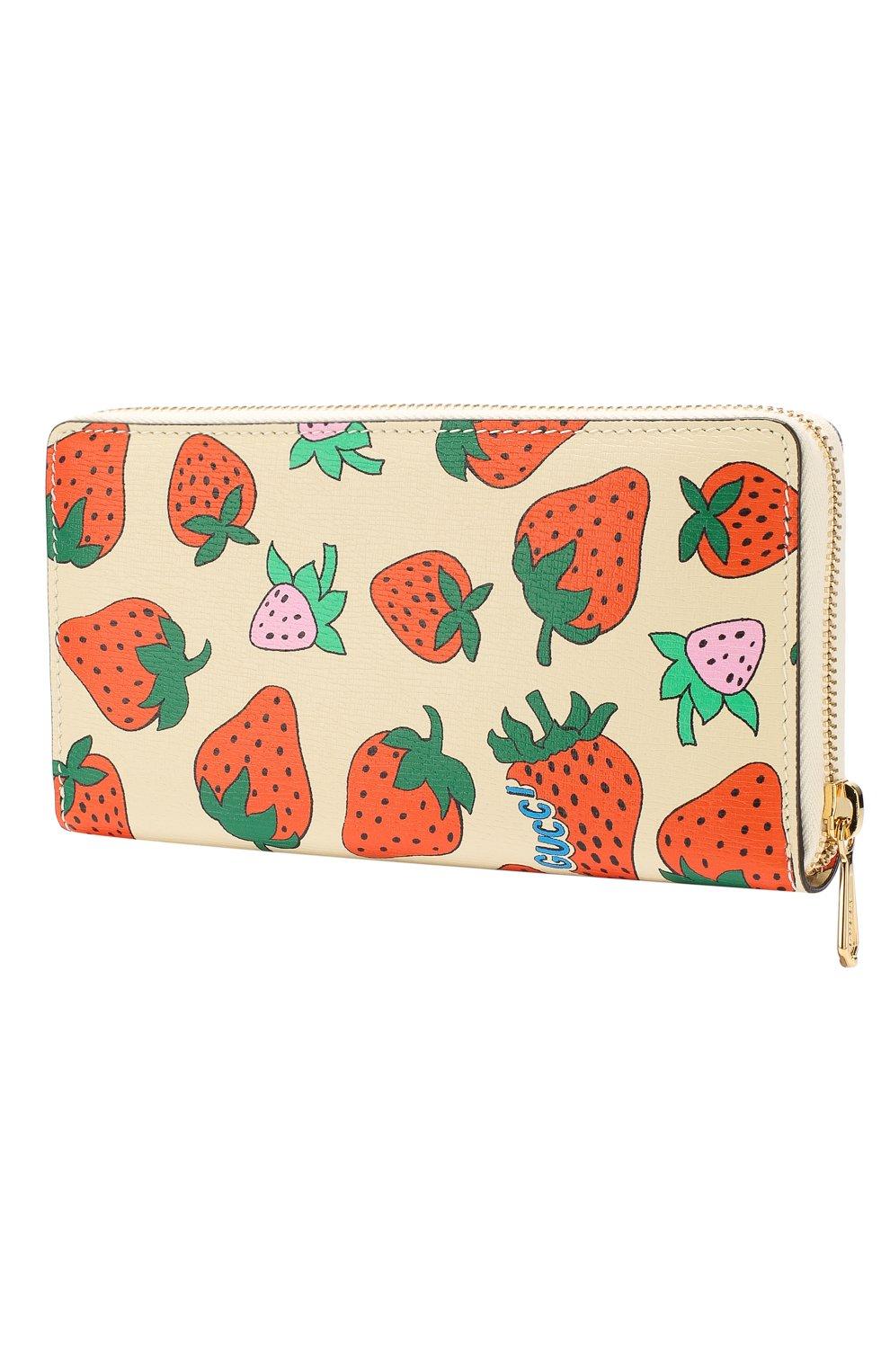Кожаный кошелек Gucci Zumi Gucci кремвого цвета   Фото №2
