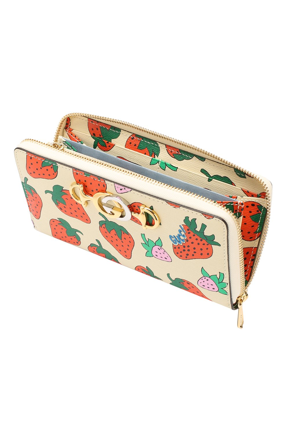 Кожаный кошелек Gucci Zumi Gucci кремвого цвета   Фото №3