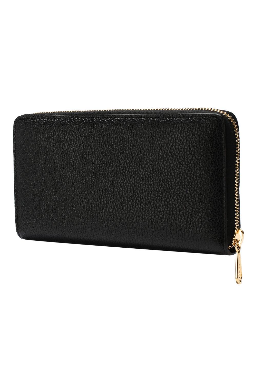 Кожаный кошелек Gucci Zumi Gucci черного цвета | Фото №2