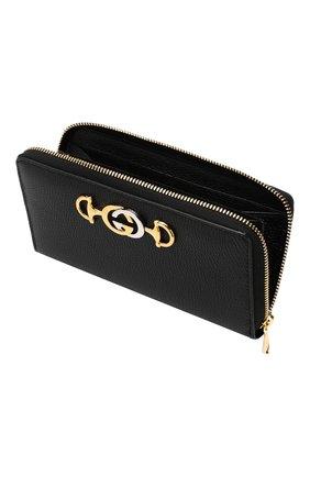 Кожаный кошелек Gucci Zumi Gucci черного цвета | Фото №3