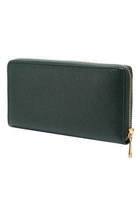 Кожаный кошелек Gucci Zumi Gucci зеленого цвета | Фото №2