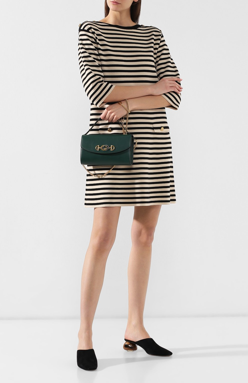 Сумка Gucci Zumi small Gucci зеленая цвета   Фото №2