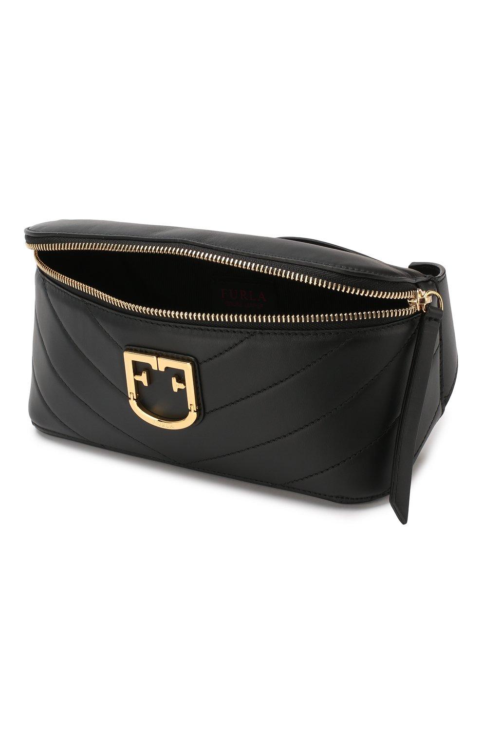 fa0e74ba3bd6 Женская черная поясная сумка isola FURLA — купить за 25000 руб. в ...
