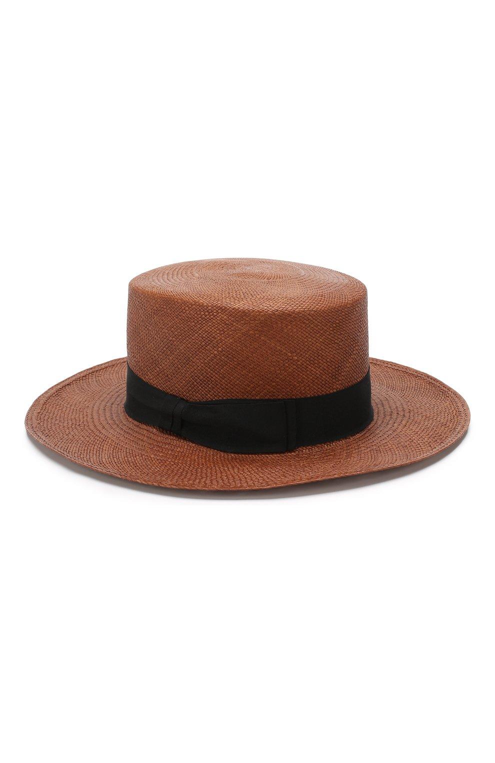 Шляпа Ekaterina Canoe темно-коричневого цвета | Фото №2