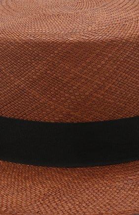 Шляпа Ekaterina Canoe темно-коричневого цвета | Фото №3