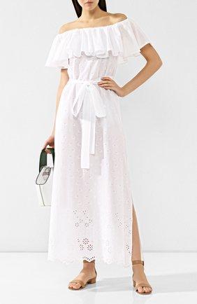 Женское хлопковое платье I.D. SARRIERI белого цвета, арт. BW45570_S19_с19 | Фото 2