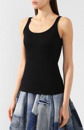Облегающая майка фактурной вязки Dolce & Gabbana черный | Фото №3