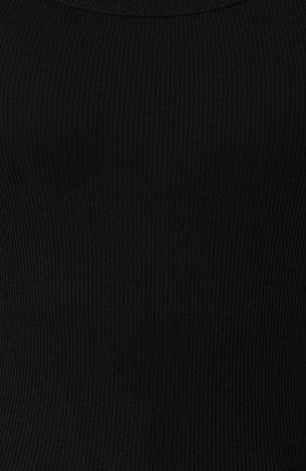 Облегающая майка фактурной вязки Dolce & Gabbana черный | Фото №5