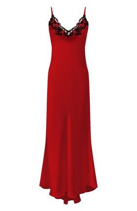 Женская шелковая сорочка LA PERLA красного цвета, арт. 0019226 | Фото 1