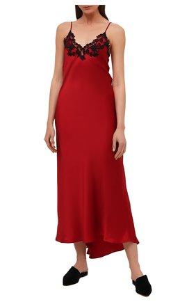 Женская шелковая сорочка LA PERLA красного цвета, арт. 0019226 | Фото 2