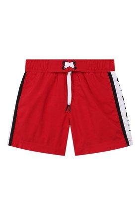 Детские плавки-шорты Givenchy красного цвета | Фото №1