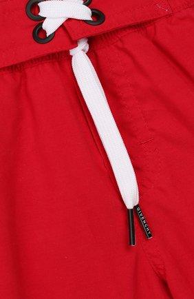 Детские плавки-шорты Givenchy красного цвета | Фото №3