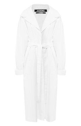 Льняное пальто Jacquemus белого цвета | Фото №1