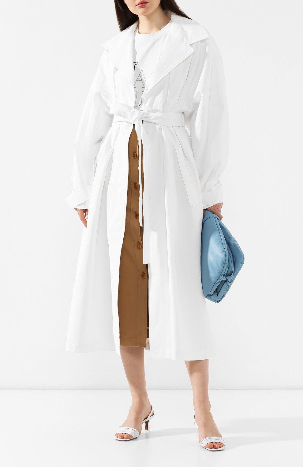 Льняное пальто Jacquemus белого цвета | Фото №2