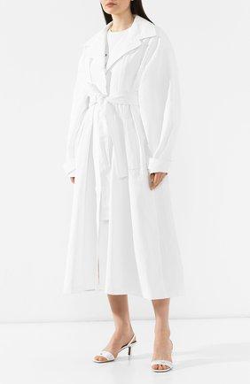 Льняное пальто Jacquemus белого цвета | Фото №3