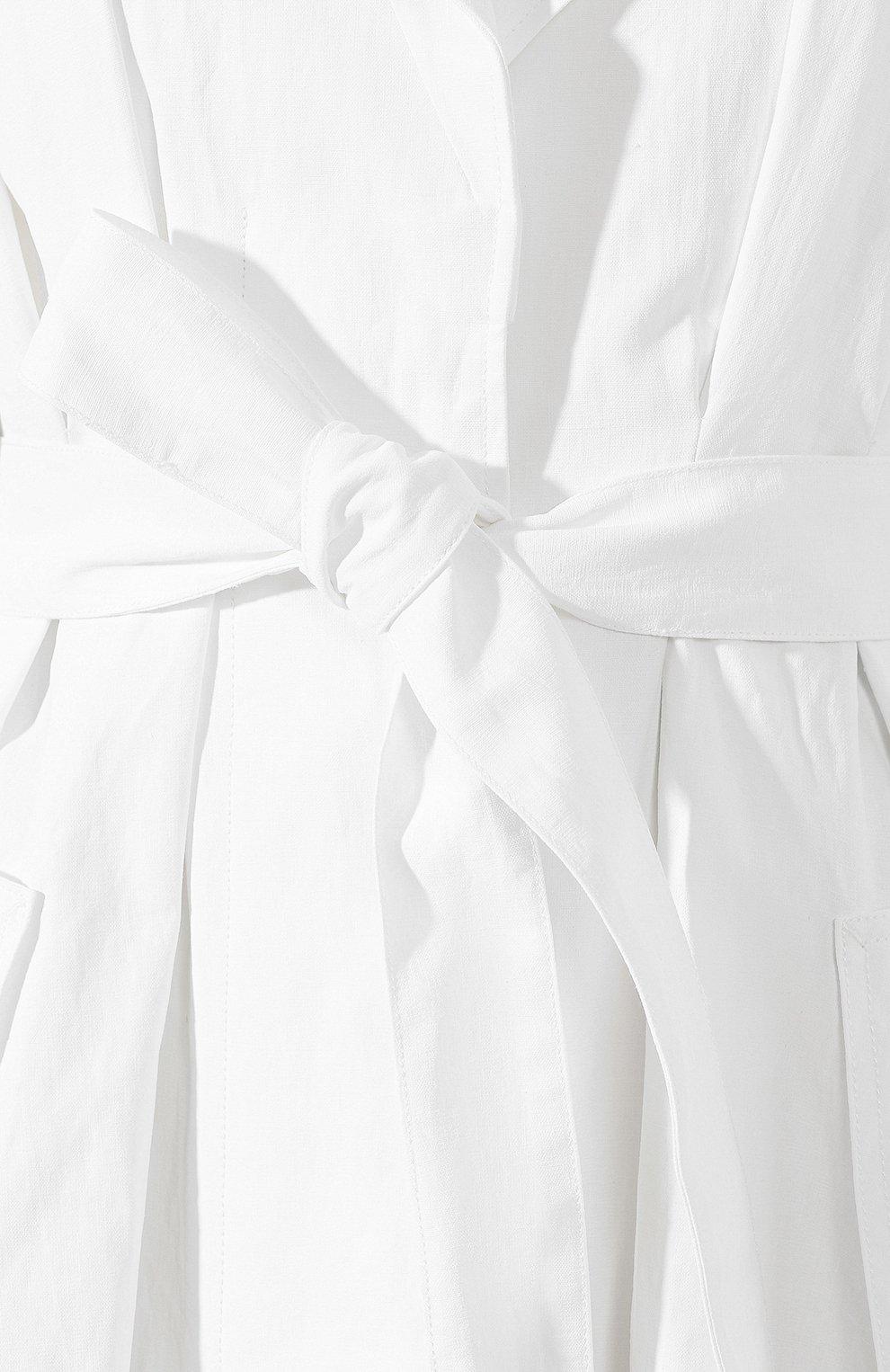Льняное пальто Jacquemus белого цвета | Фото №5