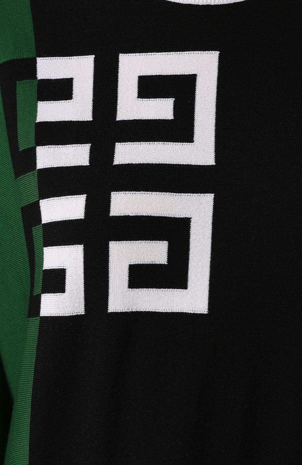 Пуловер из смеси шерсти и вискозы Givenchy зеленый | Фото №5