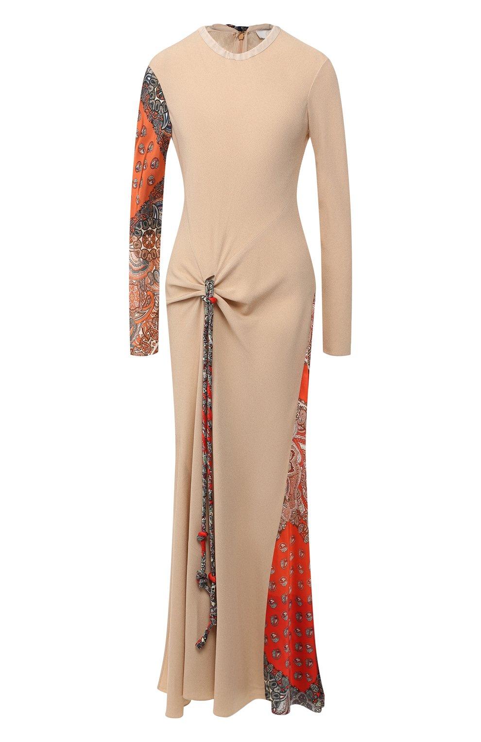 Платье из смеси вискозы и шелка   Фото №1