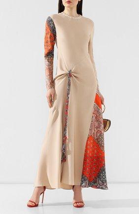 Платье из смеси вискозы и шелка   Фото №2