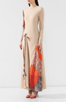 Платье из смеси вискозы и шелка   Фото №3