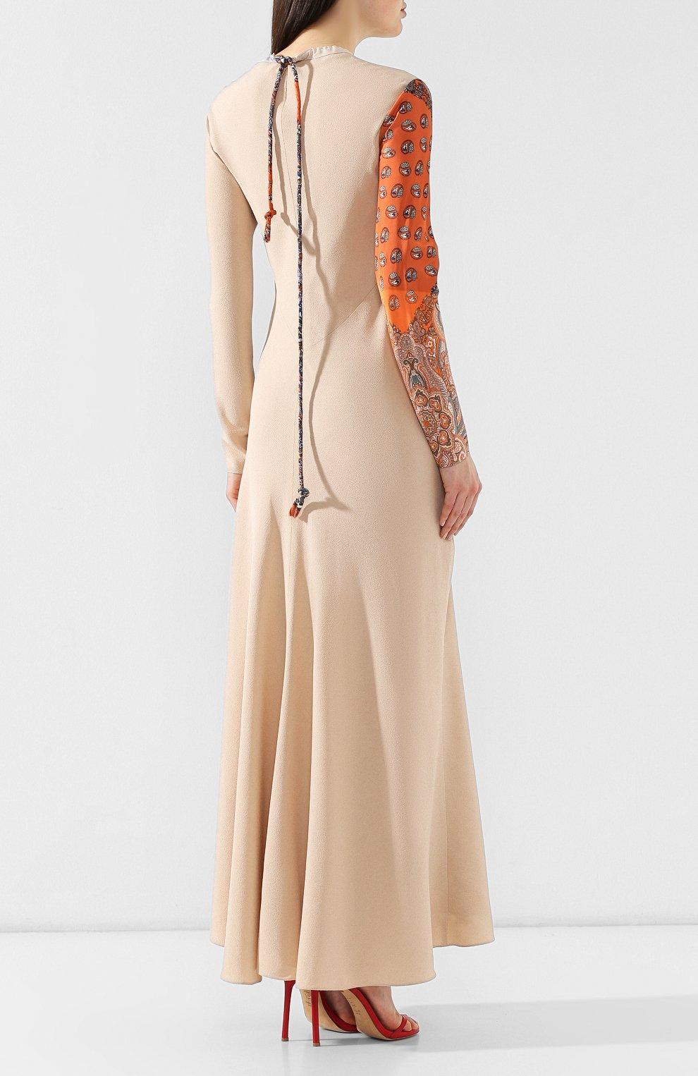 Платье из смеси вискозы и шелка   Фото №4