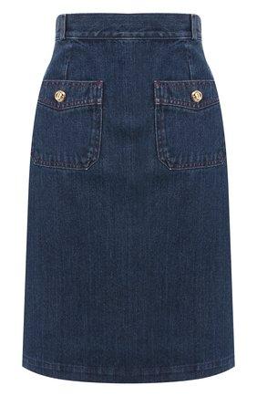 Джинсовая юбка Gucci синяя | Фото №1