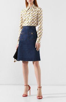 Джинсовая юбка Gucci синяя | Фото №2