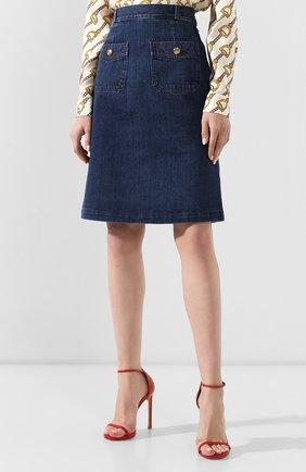 Джинсовая юбка Gucci синяя | Фото №3