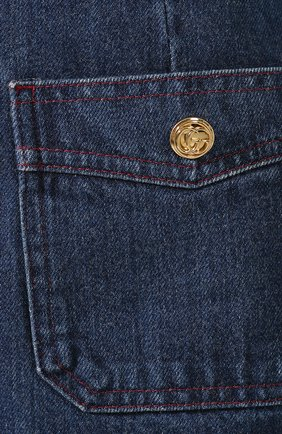 Джинсовая юбка Gucci синяя | Фото №5