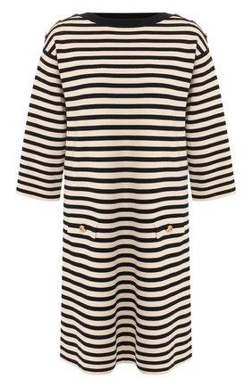 Шерстяное платье Gucci черно-белое | Фото №1