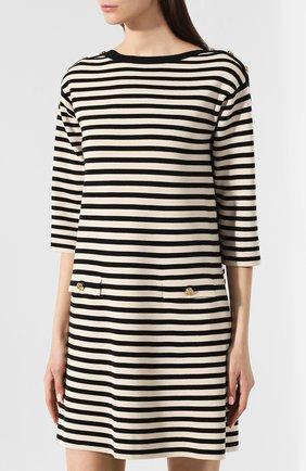Шерстяное платье Gucci черно-белое | Фото №3