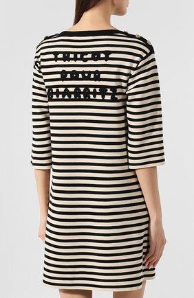 Шерстяное платье Gucci черно-белое | Фото №4