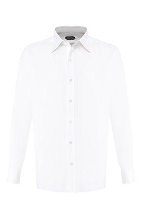 Мужская хлопковая рубашка TOM FORD белого цвета, арт. 8FT00094C1JE | Фото 1